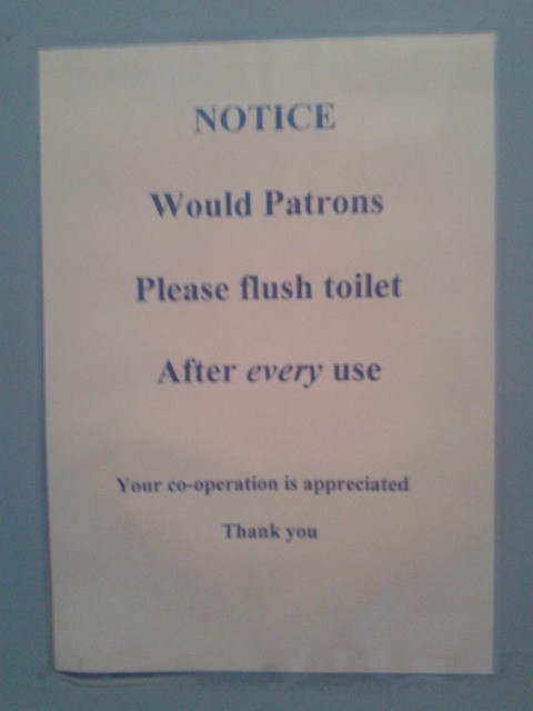 Why would such a notice even be rquired?