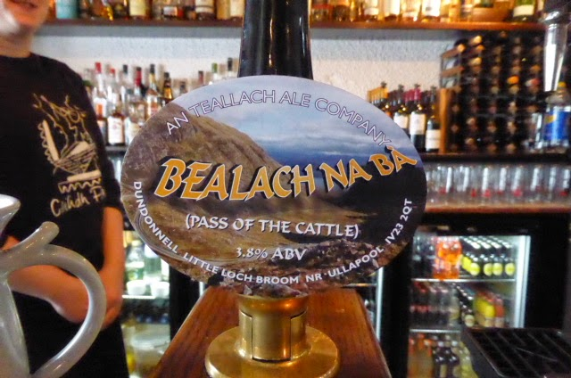We came across this delightful beer in a bar in Ullapool