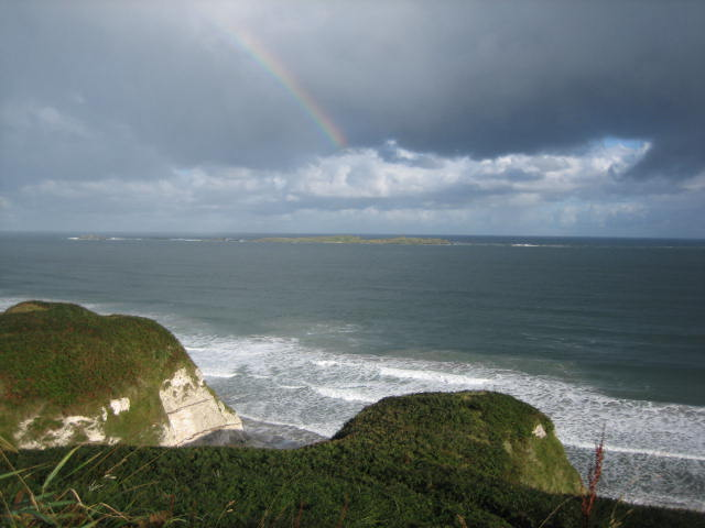 You can't beat a rainbow over the sea