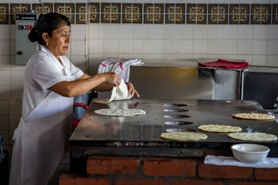 It all starts with a hand made tortilla