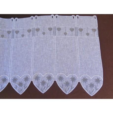 brise bise villaroger coeur fond blanc motif gris motif edelweise brode