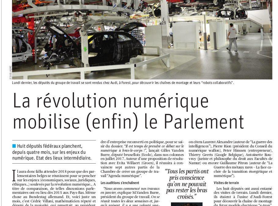 La révolution numérique mobilise (enfin) le Parlement (La Libre)