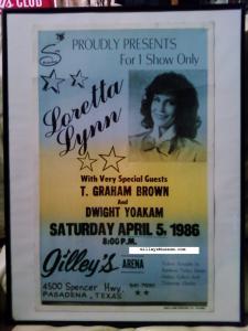 gilley s concert poster gilleysmuseum