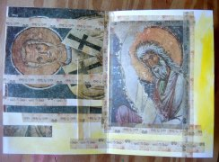 Feeling holy! These came out of an old book on Byzantine Frescoes which was falling to pieces