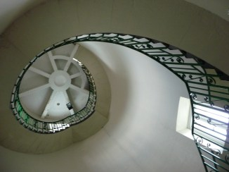 Looking up in Dungeness Lighthouse