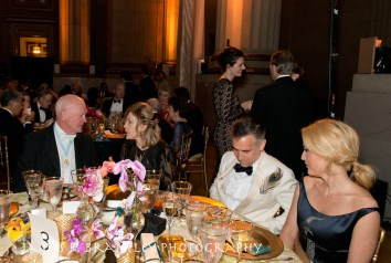"""""""The annual Freer/Sackler Gala themed """"Birds of a Feather"""" begins with a small reception and a preview of artist Darren Waterson's Peacock Room remix, Filthy Lucre"""" in Washington, DC on Friday, May 15, 2015. The reception was followed by dinner in the Mellon Auditorium and the """"Flock Together"""" after party featuring the musical group Betty. Dame Jillian Sackler, Gillian Anderson, and Max Berry chaired the event. (James R. Brantley)"""""""