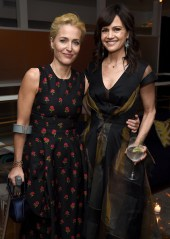 NEW YORK, NY - MAY 15: Gillian Anderson and Carla Gugino attend the 2017 CAA Upfronts Celebration Party at La Sirena on May 15, 2017 in New York City. (Photo by Dimitrios Kambouris/Getty Images for CAA)