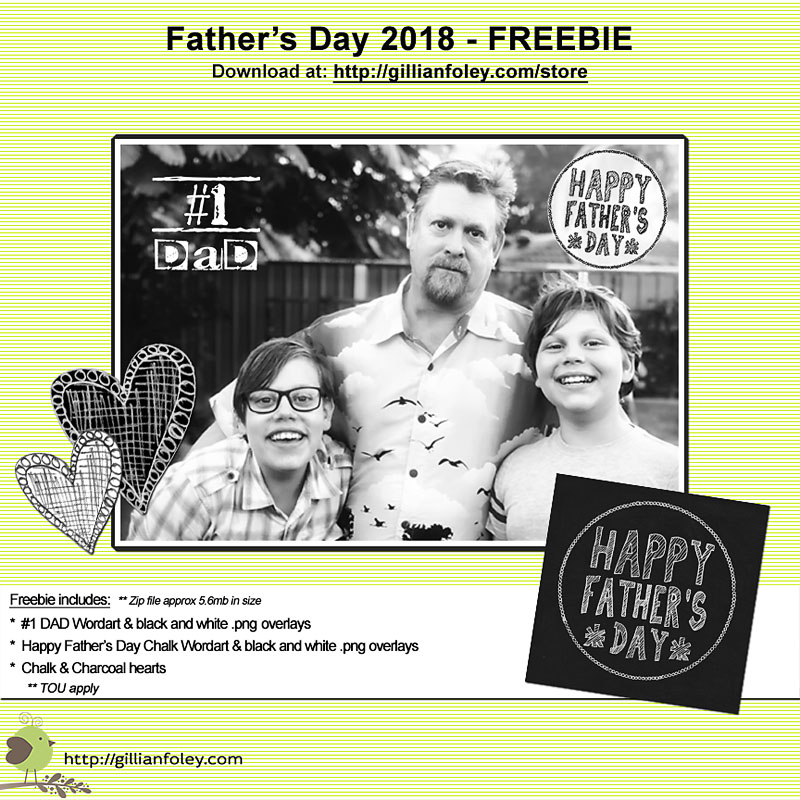 Chalk And Charcoal Father's Day FREEBIE | Gillian Foley Photography