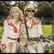 Gillian Welch & David Rawlings in their Nudie suits. Hardly Strictly Bluegrass Festival, Golden Gate Park. October 3, 2015
