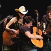 Peter Rowan, Gillian, Sean Watkins, and David close out the midnight jam. Merlefest 2006