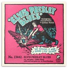 """""""Elvis Presley Blues"""" - A Letterpressed Print handmade by Peter Nevins"""