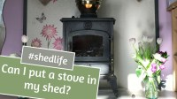 Can I put a wood burning stove in my shed?