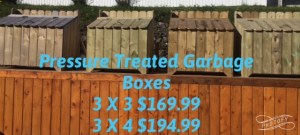 Pressure Treated Garbage Boxes