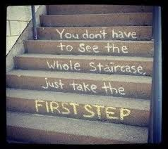 stair steps first step.