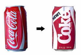 old coke and new coke. Coca Cola is a successful company.