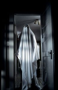 ghost in bed sheet