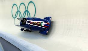bobsled on Olympic track