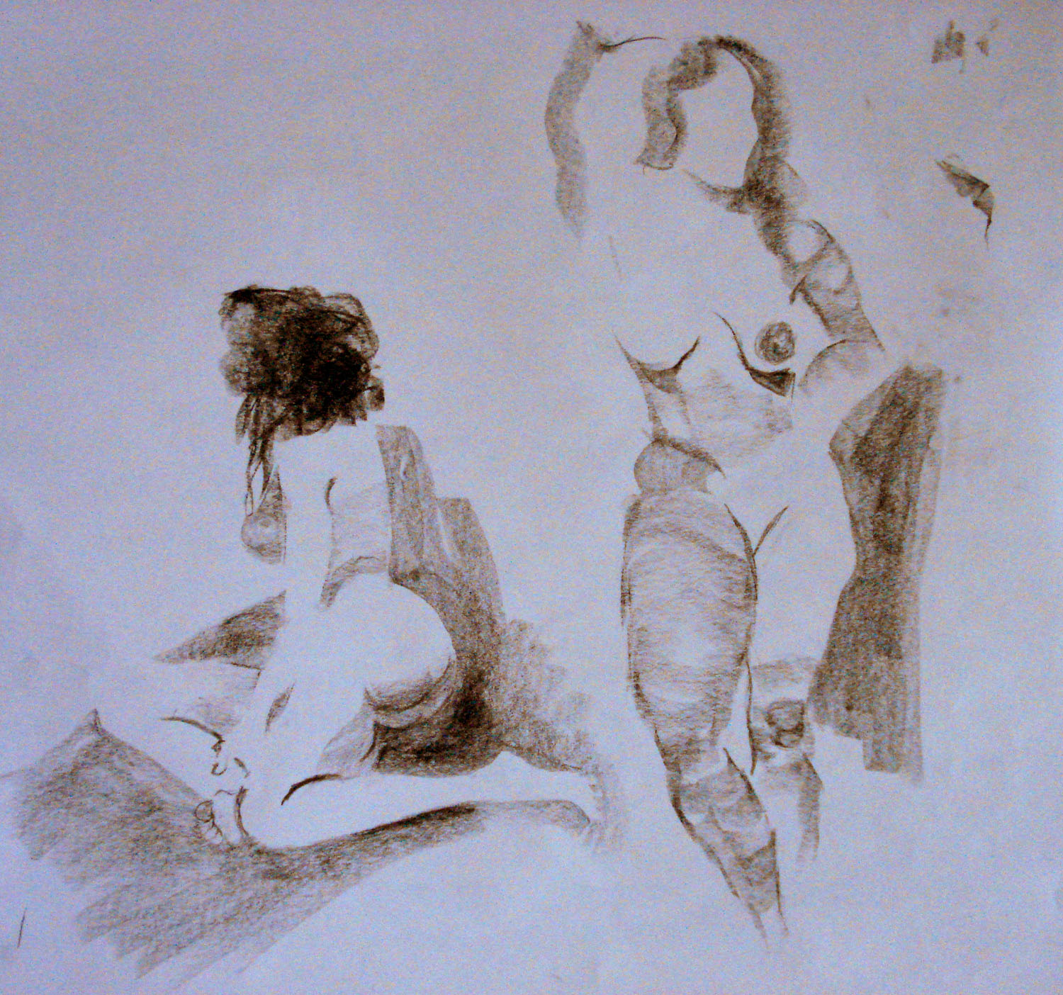 2 sketches from one model