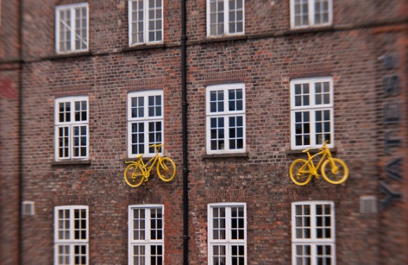 Yellow bicycles, York