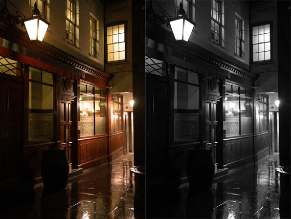 London alley at night