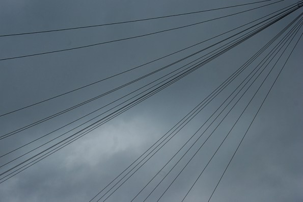 Sky with telephone lines