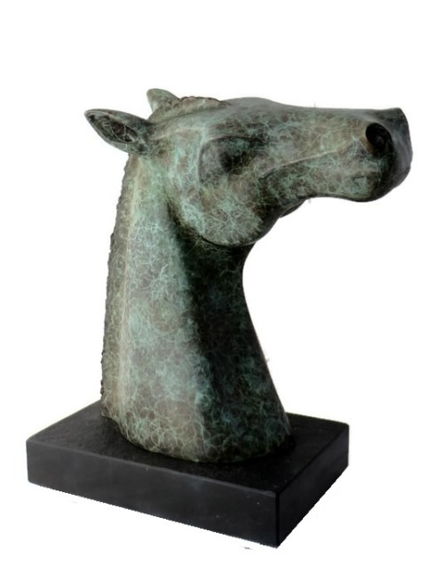 horse head bust, gift for horselover, bronze horse , equine statue, unique horse head,
