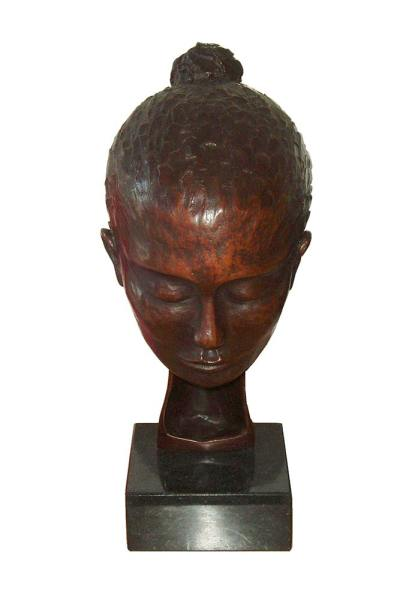 bronze, sculpture,portrait sculpture, thoughtful, thinking, unique sculpture,
