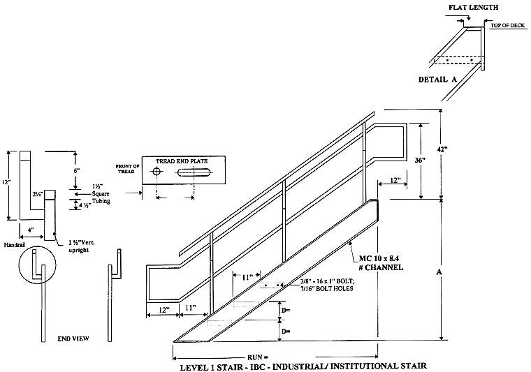 Industrial/Institutional IBC Stairs, IBC Prefab Aluminum