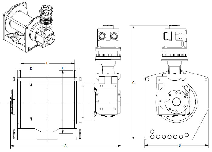 HL Series Pneumatic Hoists, Powered Winches, Power Winch
