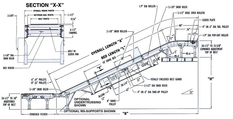Belt Conveyors, Floor-to-Floor Incline Conveyor, Slider