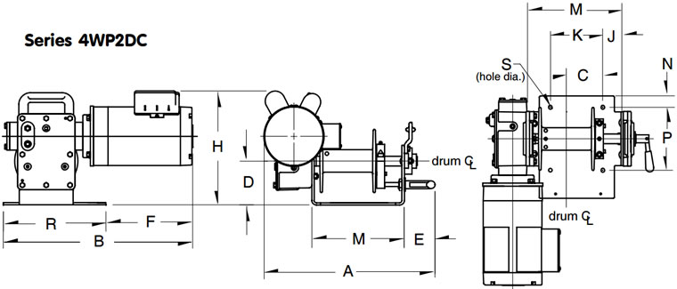 Worm Gear Power Winches, Capstan Winch, Electric Winch