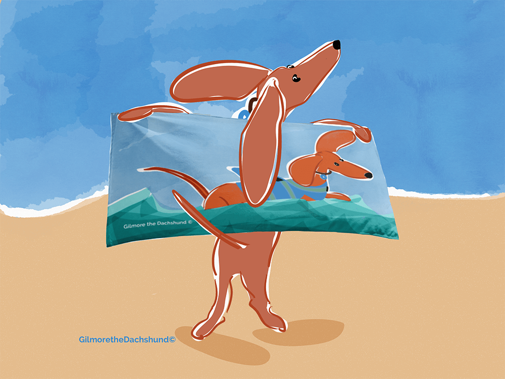 look i'm on a beach towel