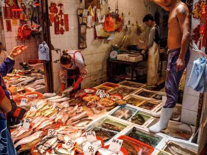 Marchés chinois de Hong Kong