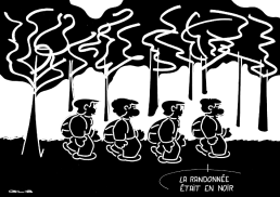 – The Walk Wore Black https://gilscow.wordpress.com/2016/04/30/randonnee-noire-black-walk/