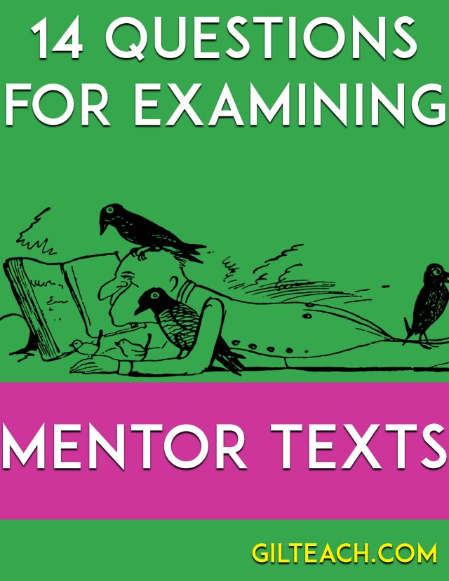 14 questions for examining any mentor text