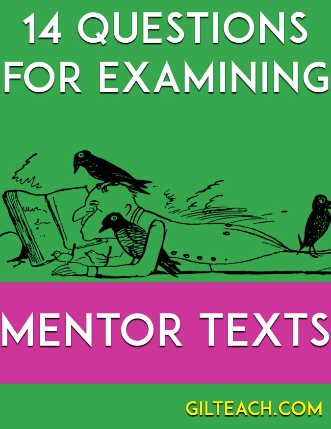 14 questions for examining mentor texts