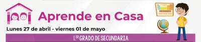 Calendario de actividades de la semana del 27 de abril al 1 de mayo