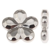 Plated CCB Plastic Beads Copper Coated Plastic Flower ...