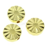 Plated CCB Plastic Beads Copper Coated Plastic Flat Round ...