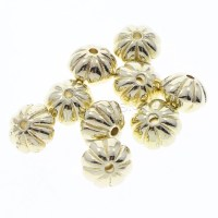 Plated CCB Plastic Beads Copper Coated Plastic Drum gold ...