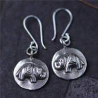 Thailand Sterling Silver Drop Earring Elephant for woman ...