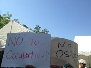 No to Occupation, No to Osprey