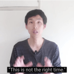 "Japanese YouTuber Nobita saying ""This is not the right time."""