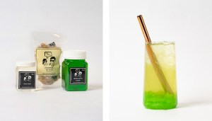 Green Apple Fruit Bubble Tea Kit and Drink with Green Apple Jelly