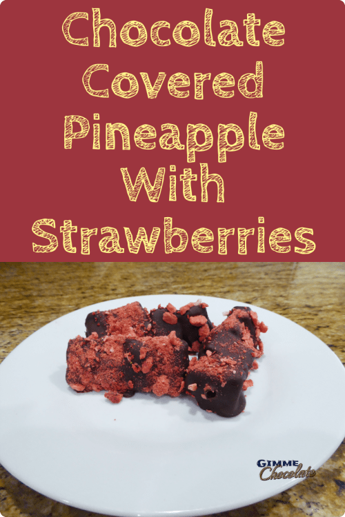 chocolate covered pineapple with strawberries