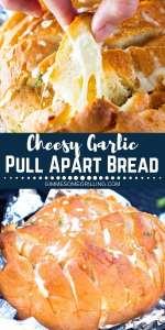 Cheesy Garlic Pull Apart Bread Pinterest 1
