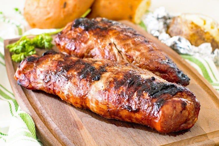 Asian Pork Loin on cutting board