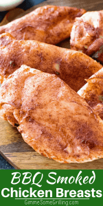 Smoked Chicken Breasts Pinterest image