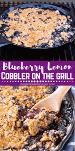 Blueberry Lemon Cobbler on the Grill Pinterest 2