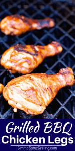 BBQ Chicken Drumsticks Pinterest Collage